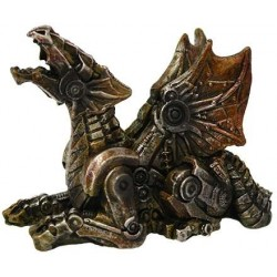 Steampunk Mechanized Small Dragon Statue Step Out of Time Steampunk and More Steampunk Costumes, Victorian Clothing, Pirate Costumes, Renne Faire Clothing