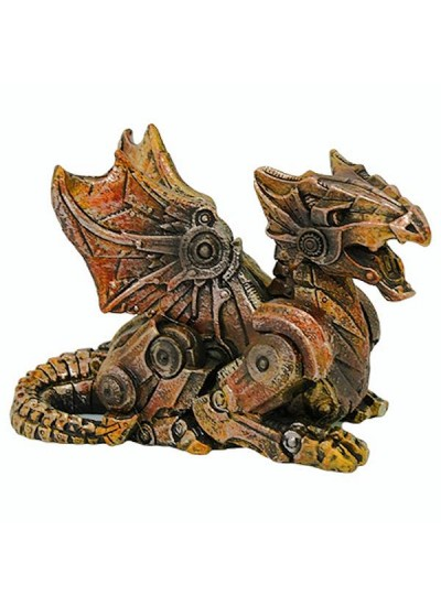 Steampunk Winged Small Dragon Statue at Step Out of Time Steampunk and More, Steampunk Costumes, Victorian Clothing, Pirate Costumes, Renne Faire Clothing