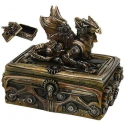 Steampunk Dragon Trinket Box Step Out of Time Steampunk and More Steampunk Costumes, Victorian Clothing, Pirate Costumes, Renne Faire Clothing