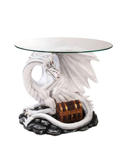 Dragon Treasure Glass Top Accent Table at Step Out of Time Steampunk and More, Steampunk Costumes, Victorian Clothing, Pirate Costumes, Renne Faire Clothing