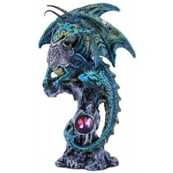 Blue Dragon Fantasy Art Statue Step Out of Time Steampunk and More Steampunk Costumes, Victorian Clothing, Pirate Costumes, Renne Faire Clothing