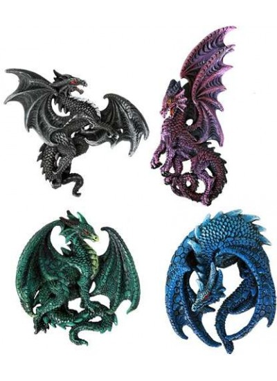 Dragon Magnets Set of 4 at Step Out of Time Steampunk and More, Steampunk Costumes, Victorian Clothing, Pirate Costumes, Renne Faire Clothing