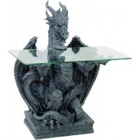Dragon Glass Top Side Table