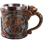 Steampunk Dragon Mug with Stainless Steel Cup at Step Out of Time Steampunk and More, Steampunk Costumes, Victorian Clothing, Pirate Costumes, Renne Faire Clothing