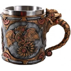 Steampunk Dragon Mug with Stainless Steel Cup Step Out of Time Steampunk and More Steampunk Costumes, Victorian Clothing, Pirate Costumes, Renne Faire Clothing