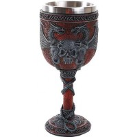Double Dragon and Skull Goblet