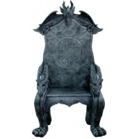 Celtic Dragon Throne Medieval Chair