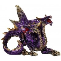 Double Headed Dragon Figurine in Purple