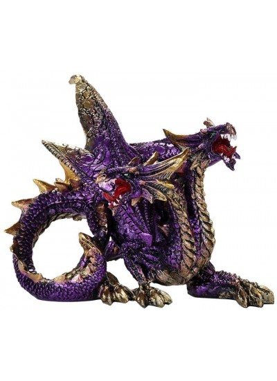 Double Headed Dragon Figurine in Purple at Step Out of Time Steampunk and More, Steampunk Costumes, Victorian Clothing, Pirate Costumes, Renne Faire Clothing