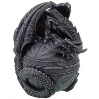 Celtic Dragon Round Trinket Box