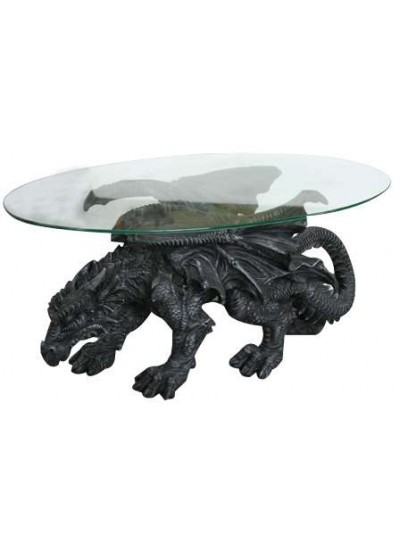 Shire Dragon Glass Topped Coffee Table at Step Out of Time Steampunk and More, Steampunk Costumes, Victorian Clothing, Pirate Costumes, Renne Faire Clothing