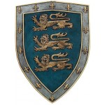 3 Lions Medievel Knights Shield Plaque at Step Out of Time Steampunk and More, Steampunk Costumes, Victorian Clothing, Pirate Costumes, Renne Faire Clothing