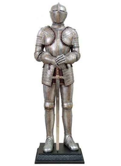 Knight with Sword Lifesize Suit of Armor Statue at Step Out of Time Steampunk and More, Steampunk Costumes, Victorian Clothing, Pirate Costumes, Renne Faire Clothing