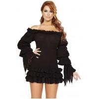 Ruffled Gothic Pirate Dress