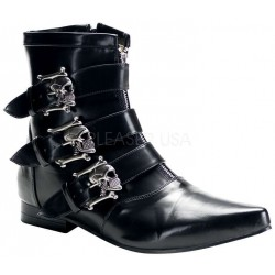 Skull Buckle Brogue Ankle Boot Step Out of Time Steampunk and More Steampunk Costumes, Victorian Clothing, Pirate Costumes, Renne Faire Clothing