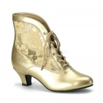 Victorian Dame Gold Ankle Boot at Step Out of Time Steampunk and More, Steampunk Costumes, Victorian Clothing, Pirate Costumes, Renne Faire Clothing