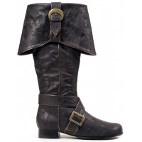 Mens Black Pirate Captain Boots