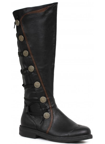 Mens Black Renaissance Boot at Step Out of Time Steampunk and More, Steampunk Costumes, Victorian Clothing, Pirate Costumes, Renne Faire Clothing