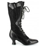 Rebecca Victorian Black Lace Boot at Step Out of Time Steampunk and More, Steampunk Costumes, Victorian Clothing, Pirate Costumes, Renne Faire Clothing