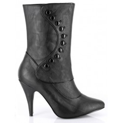 Ruth Black Ankle Boots with Button Detail Step Out of Time Steampunk Costumes, Victorian Clothing, Pirate Costumes, Renne Faire Clothing