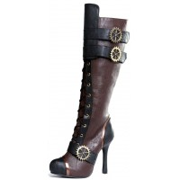 Quinley Steampunk Brown Boots