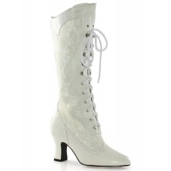 Rebecca Victorian White Lace Boot Step Out of Time Steampunk Costumes, Victorian Clothing, Pirate Costumes, Renne Faire Clothing