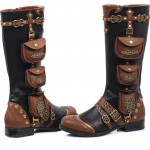 Silas Multi Pocket Steampunk Womens Boots