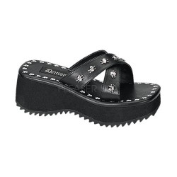 Flip Skull Studded Platform Gothic Sandal Step Out of Time Steampunk and More Steampunk Costumes, Victorian Clothing, Pirate Costumes, Renne Faire Clothing