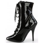 Seduce 1020 5 Inch Heel Black Patent Ankle Boot