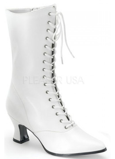 White Victorian Steampunk Ankle Boots at Step Out of Time Steampunk and More, Steampunk Costumes, Victorian Clothing, Pirate Costumes, Renne Faire Clothing