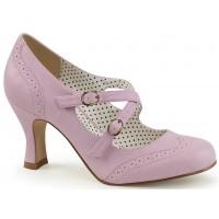 Cross Strap Flapper Lavender Vintage Heel Shoe