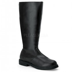 Captain Mid Calf Plain Black Boots Step Out of Time Steampunk and More Steampunk Costumes, Victorian Clothing, Pirate Costumes, Renne Faire Clothing