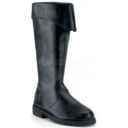 Captain Mid Calf Cuffed Black Boots Step Out of Time Steampunk and More Steampunk Costumes, Victorian Clothing, Pirate Costumes, Renne Faire Clothing