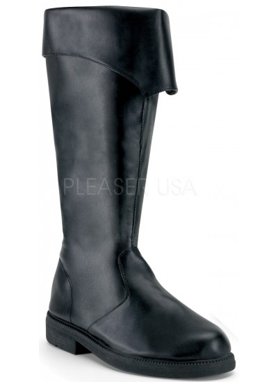 Captain Mid Calf Cuffed Black Boots at Step Out of Time Steampunk and More, Steampunk Costumes, Victorian Clothing, Pirate Costumes, Renne Faire Clothing
