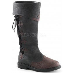 Distressed Black Rennaissance Costume Boots Step Out of Time Steampunk and More Steampunk Costumes, Victorian Clothing, Pirate Costumes, Renne Faire Clothing