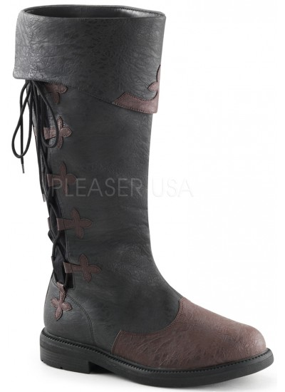 Distressed Black Rennaissance Costume Boots at Step Out of Time, Steampunk Costumes, Victorian Clothing, Pirate Costumes, Renne Faire Clothing