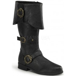 Carribean Distressed Black Pirate Boots Step Out of Time Steampunk and More Steampunk Costumes, Victorian Clothing, Pirate Costumes, Renne Faire Clothing