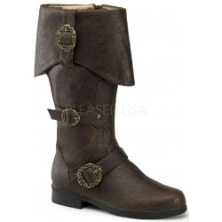 Carribean Distressed Brown Pirate Boots Step Out of Time Steampunk and More Steampunk Costumes, Victorian Clothing, Pirate Costumes, Renne Faire Clothing