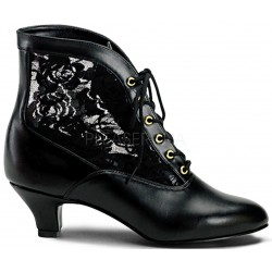 Victorian Dame Black Ankle Boot Step Out of Time Steampunk and More Steampunk Costumes, Victorian Clothing, Pirate Costumes, Renne Faire Clothing