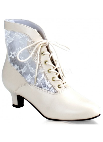 Victorian Dame Ivory Ankle Boot at Step Out of Time Steampunk and More, Steampunk Costumes, Victorian Clothing, Pirate Costumes, Renne Faire Clothing