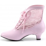 Victorian Dame Baby Pink Ankle Boot at Step Out of Time Steampunk and More, Steampunk Costumes, Victorian Clothing, Pirate Costumes, Renne Faire Clothing