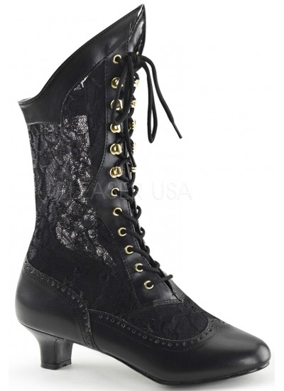 Victorian Dame Black Lace Boot at Step Out of Time Steampunk and More, Steampunk Costumes, Victorian Clothing, Pirate Costumes, Renne Faire Clothing