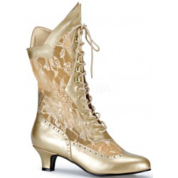 Victorian Dame Gold Lace Boot Step Out of Time Steampunk and More Steampunk Costumes, Victorian Clothing, Pirate Costumes, Renne Faire Clothing