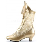 Victorian Dame Gold Lace Boot at Step Out of Time Steampunk and More, Steampunk Costumes, Victorian Clothing, Pirate Costumes, Renne Faire Clothing