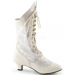 Victorian Dame Ivory Lace Boot Step Out of Time Steampunk and More Steampunk Costumes, Victorian Clothing, Pirate Costumes, Renne Faire Clothing