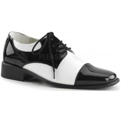 Disco Black and White Costume Shoes Step Out of Time Steampunk and More Steampunk Costumes, Victorian Clothing, Pirate Costumes, Renne Faire Clothing