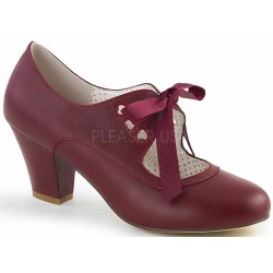 Wiggle Vintage Style Mary Jane Shoe in Burgundy Step Out of Time Steampunk and More Steampunk Costumes, Victorian Clothing, Pirate Costumes, Renne Faire Clothing