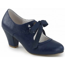 Wiggle Vintage Style Mary Jane Shoe in Navy Blue Step Out of Time Steampunk and More Steampunk Costumes, Victorian Clothing, Pirate Costumes, Renne Faire Clothing