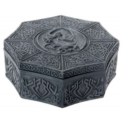 Celtic Dragon Octagonal Box Step Out of Time Steampunk and More Steampunk Costumes, Victorian Clothing, Pirate Costumes, Renne Faire Clothing