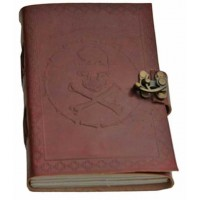 Skull and Bones Leather Journal